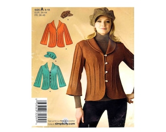 Misses Jacket and Hat Simplicity 2808 Sewing Pattern Size 8 - 10 - 12 - 14 - 16 - 18 UNCUT