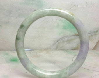 Jade bangle, lavender jade bangle