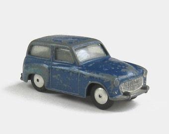 1950s Corgi 206M Hillman Husky Estate - 206 station wagon friction toy car dark blue silver chippy industrial British die cast metal vintage