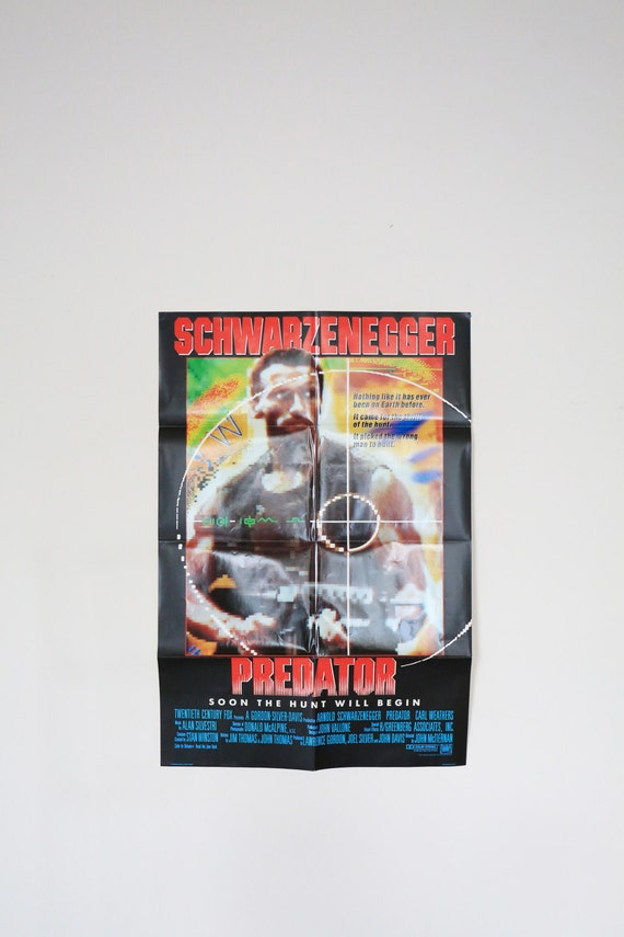 Original Theatrical One Sheet Film Poster - Predator Starring Arnold Schwarzenegger