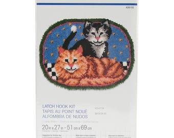 Cuddly Kittens Cats Latch Hook Kit Wonderart 426193