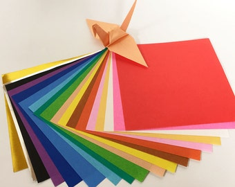 "Origami Paper Sheets - Colored Paper Assortment - 160 4.6"" Sheets"