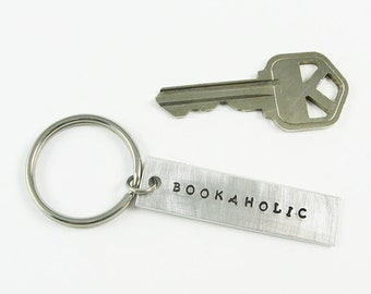 Reader Key Chain - Bookaholic Keychain for Bookworm, Librarian, Writer, Book Club Member