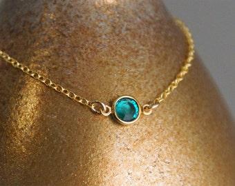 Birthstone Bracelet / Layered Bracelet / Gold Filled Bracelet / 14K Gold Filled Birthstone Bracelet