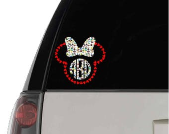 Disney Decal Decal, Patterned Disney Decal, Printed Disney Decal in Disney Patterns 1-34