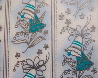 Vintage Wedding Gift Wrap, 60s Bridal Shower Wrapping Paper, Wedding Bells Gift Wrap, Bride Wrapping Paper, Shower gift Two Sheets