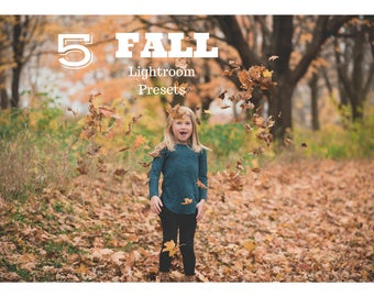 5 Fall Lightroom Presets