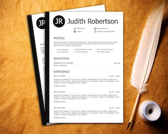 Resume Template / CV Template + Cover letter - Instant download