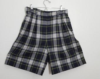 Wool Shorts / Lined Shorts / Plaid shots / Valerie Stevens
