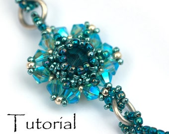 "Beading Pattern - 2 in 1 Beading Tutorial earring pendant ""Ahoi"" and ""Sea Flower"""
