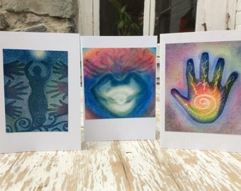 Three Spirit Cards, Inspirational Cards, Magical Cards