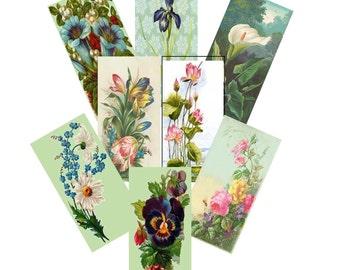 Digital Flower Collage Sheet, Vintage Victorian Flower Collage, Scrapbooking Flower Collage,  2x1 Digital Collage