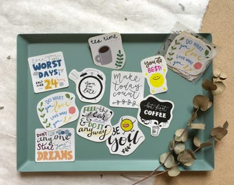 The Little Days - Short Quote Sticker Pack (10 in one pack)