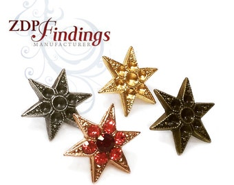 6pcs x Post Earring Bases For Gluing Swarovski 24pp and 18pp, Choose your Finish (POST2418PPV)