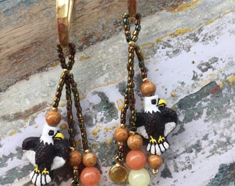 Boho Eagle earrings