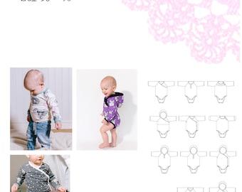 PDF- mönster Make a wish body (och tröja) stl 50-98
