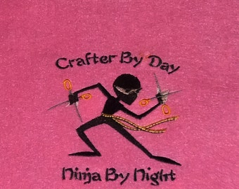 Craft Ninja Embroidered Wall Art (9x12)