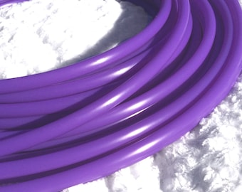 """UV Lilac Purple 5/8"""" Polypro Dance & Exercise Hula Hoop COLLAPSIBLE push button  or minis - blacklight neon wisteria orchid"""