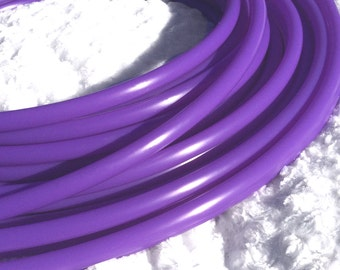 "UV Lilac Purple 1/2"" Polypro Dance & Exercise Hula Hoop COLLAPSIBLE push button or minis - blacklight neon wisteria orchid"