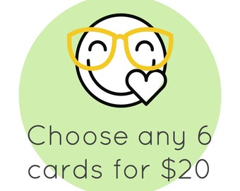6 Pack of Cards - Choose Any 6 // Card Sets