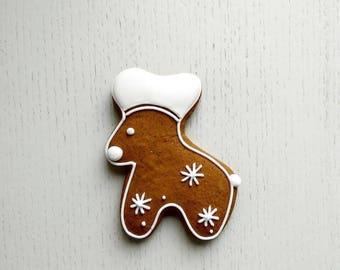 Cookies Christmas, moose, gingerbread moose