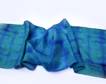 Made to Order -Silk Scarf Hand-Dyed. Your colors-Perfect Gift,