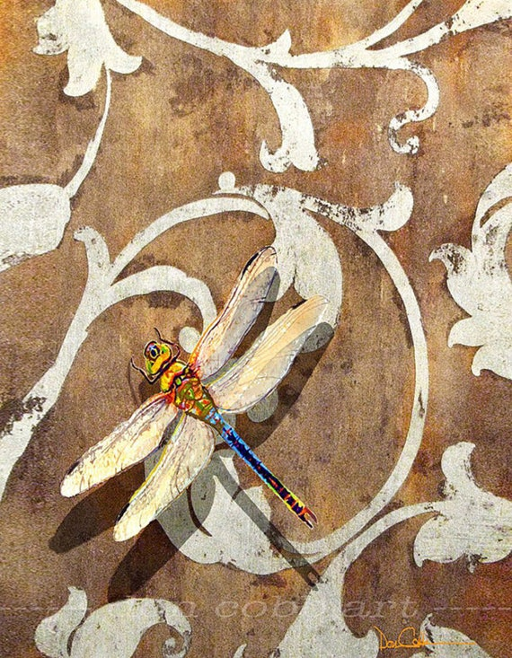 Dragonfly Art Dragonfly Shadow Prints Signed And