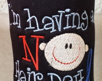 Colon Cancer Awareness Bottle Cozy - I'm Having a NO Hair Day