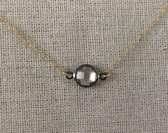 Crystal Necklace // Crystal Quartz Necklace // Gold Crystal Necklace