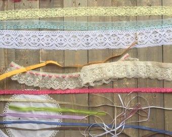 Ribbons and Lace Junk Journal Scrapbook Ephemera Creativity Box