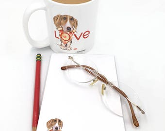 Valentine's Day Gift for Pet Owner | Pizza | Pet Owner | Beagle Gift | From Susan Drawbaugh Studio in San Pedro, CA