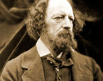 """1865 Poet Alfred, Lord Tennyson Vintage Photograph 8.5"""" x 11"""" Reprint"""
