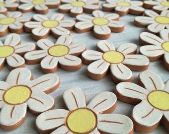 Margherita Ceramic magnet-Floral fridge magnets-ceramic magnets-flower magnets-birth-favors for girls