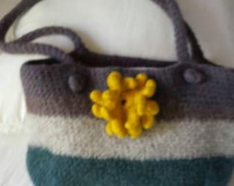 Crocheted Felted Bag