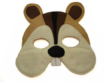 Children's CHIPMUNK Felt Woodland Animal Mask