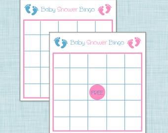 Boy/Girl Twins Baby Shower Bingo