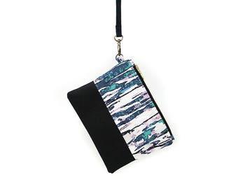 BARK WRISTLET | Blue, White & Cork Leather | Clutch | Purse | Handbag | A Portion of Proceeds go to Charity