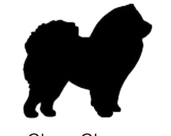 DIY Chow Dog Vinyl Decal, Dog Lover, Chow Owner, Laptop Decal, iPad Decal, Cell Phone Decal, Car Window Decal, Drinkware Decal, Coffee Cup