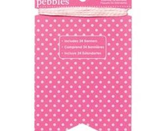 Begonia Pink Basics Banner Kit | Pebbles | Bright Pink Banner | Baby Shower Banner | Pink Pennant Banner | Baby Girl | First Birthday