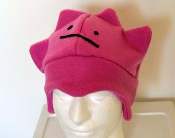 Ditto Pokemon Fleece Hat with Earflaps