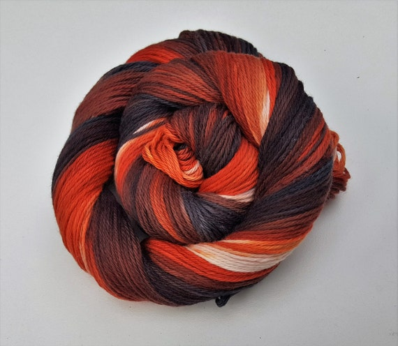 Toasted Marshmellow- 100 Cotton Yarn, Hand Dyed, Hand Painted Yarn