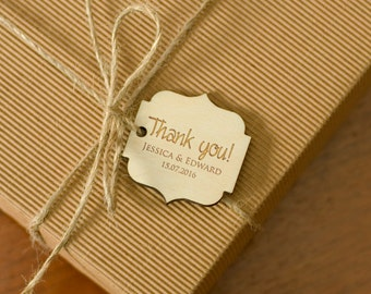 Gift Tags Wedding Wooden Engraved Personalized Rustic Gift Tags Wedding Party Favor Tags Wedding Tags Natural Wood Tags