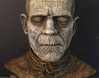 The Mummy bust Boris Karloff 1:1 scale head prop monster not a mask Frankenstein Dracula Wolfman Creature Phantom Universal Monsters