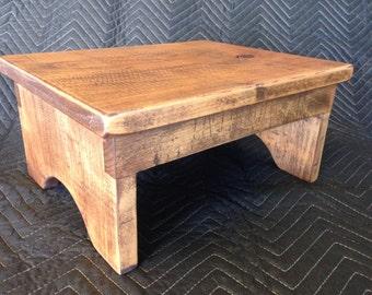 Kids Step Stool / Adult Step stool / Oak step stool / Rustic Step Stool / red oak step stool