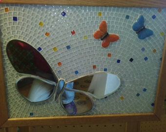 Beautiful Butterfly Mosaic Mirror