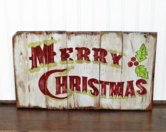Pallet Sign Christmas, Holiday Porch Sign, Wood Sign, Country pallet decor, Merry Christmas Decor