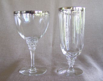 Crystal stemware from 1950's