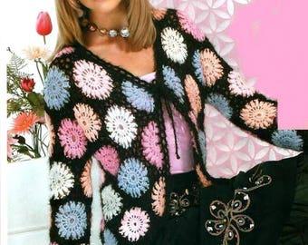 Multicolored crochet mohair ladies jacket / order