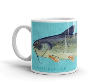 Fathers Day Gifts for Dad, Husband Gift, Fish Mug, Channel Catfish Mug, Fishing Gift, for Fisherman Gift, Fish Gift for Him
