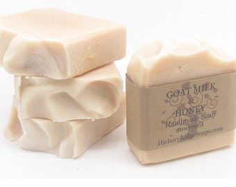 Goat Milk & Honey Natural Homemade Soap ~ Handmade Soaps by Hickory Ridge Soap Co.
